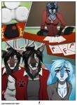 2016 amur angel_(copperback01) angry anthro antlers blue_eyes blue_fur blue_hair breasts canine cervine cleavage clothed clothing comic deer dog everett_(copperback01) eyewear female fur glasses group hair harley_(copperback01) horn husky kaleb_(copperback01) male mammal neck_tuft school teacher tuft yellow_eyes