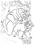 anal bear beast_(disney) beauty_and_the_beast bottomless brother_bear clothed clothing disney duo feral interspecies kenai male male/male mammal overweight penetration sex simple_background slightly_chubby smile unknown_artist white_background  Rating: Explicit Score: 2 User: toboe Date: June 23, 2011