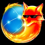 alpha_channel ambiguous_gender browser canine deal_with_it eyewear fire firefox fox globe icon low_res mammal simple_background snout solo sunglasses transparent_background unknown_artist