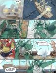 anthro battle comic dragon english_text gorgon_(zerofox) green_skin male muscles pirate pirate_boat red_skin scalie sea text water weapon zerofox1000  Rating: Safe Score: 2 User: furry+lover=E621 Date: July 05, 2015""