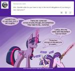 2015 anal anal_penetration blush deusexequus english_text equine female feral friendship_is_magic horn horse mammal my_little_pony penetration polearm pony staff starlight_glimmer_(mlp) text twilight_sparkle_(mlp) unicorn vaginal vaginal_penetration weapon winged_unicorn wings   Rating: Explicit  Score: 7  User: Robinebra  Date: April 14, 2015