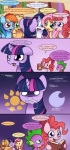 2012 applejack_(mlp) book comic dialog dragon english_text equine female feral fluttershy_(mlp) friendship_is_magic horn horse moon my_little_pony pegasus pinkie_pie_(mlp) pony rainbow_dash_(mlp) rarity_(mlp) scalie solar-slash spike_(mlp) sun text twilight_sparkle_(mlp) unicorn wings   Rating: Safe  Score: 11  User: 2DUK  Date: March 02, 2012