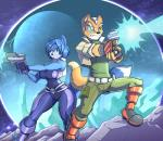 2015 anthro big_breasts blue_fur blue_hair boots breasts canine cleavage clothed clothing duo female fingerless_gloves fox fox_mccloud fur gloves green_eyes gun hair jaeh krystal laser male mammal nintendo orange_fur pants ranged_weapon scouter shirt short_hair space standing star_fox tight_clothing vest video_games weapon wide_hips   Rating: Safe  Score: 17  User: PineappleMan  Date: January 31, 2015