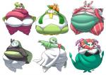 belly big_belly breasts cleavage clothed clothing gardevoir green_hair group hair half-closed_eyes humanoid jeetdoh lilligant looking_back lurantis nintendo not_furry obese overweight pokémon simple_background smile standing tight_clothing tsareena video_games white_backgroundRating: QuestionableScore: 2User: EmissaryOfRainbowsDate: January 29, 2017