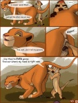 anus comic dialog disney english_text feline female feral fisting interspecies kiara lion male mammal meerkat penis pussy pussy_juice size_difference straight text the_lion_king timon tuke vaginal   Rating: Explicit  Score: 36  User: ippiki_ookami  Date: August 09, 2012