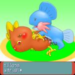 blush female feral fin japanese_text male male/female marine mudkip nintendo penetration penis pokémon pussy simple_background text torchic translated unknown_artist vaginal vaginal_penetration video_games