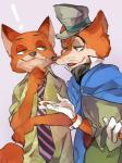 ! 2016 anthro canine disney duo fox hi_res male mammal nick_wilde simple_background zootopia 神崎りあ  Rating: Safe Score: 2 User: Vallizo Date: April 30, 2016