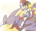ash_ketchum garchomp human mammal nintendo pikachu pokémon pokémon_(species) saddle toritorico001 video_gamesRating: SafeScore: 5User: Rad_DudesmanDate: February 09, 2018