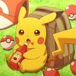 ambiguous_gender backpack chane-ko grass hat heinz ketchup looking_at_viewer nintendo open_mouth outside pikachu pokéball pokémon solo sweat video_games   Rating: Safe  Score: 12  User: Cαnε751  Date: April 24, 2015