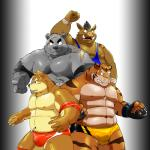 abs anthro bear biceps big_muscles boar bulge canine chest_tuft chubby clothed clothing dog feline fur group half-dressed looking_at_viewer male mammal musclegut muscular muscular_male porcine scar shiba-kenta shiba_inu speedo swimsuit tiger topless tuft wrestler  Rating: Safe Score: 9 User: beartraps Date: December 18, 2013