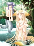 amber_eyes animal_ears barefoot bath big_breasts blonde_hair blue_hair bottomless breasts canine carnelian cat_ears clothed clothing duo eyes_closed female fish fox fox_ears hair half-dressed hcg hi_res long_hair louis mammal marine multiple_tails nekomata nipples nude tail_tales tree unknown_artist water wet wood yellow_eyes   Rating: Questionable  Score: 6  User: Kitsu~  Date: June 19, 2009