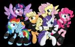 applejack_(mlp) band benprower clenched_teeth clothing cutie_mark equine female fluttershy_(mlp) friendship_is_magic group hair horn horse long_hair mammal metal my_little_pony pegasus pinkie_pie_(mlp) plain_background pony rainbow_dash_(mlp) rarity_(mlp) smile teeth twilight_sparkle_(mlp) unicorn winged_unicorn wings   Rating: Safe  Score: 13  User: Fluttershy  Date: February 01, 2014