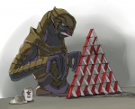 2009 alien arbiter_(halo) card coffee_mug halo_(series) house_of_cards lol_comments male not_furry playing_card sangheili setouchi solo star thel_'vadam video_games