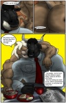 anthro biceps bovine butt cattle clothing comic couple dialogue duo feline food fur horn interspecies lion male male/male mammal morning muscles necktie nipples nude pants pecs pose shirt sitting standing sudonym suit text  Rating: Explicit Score: 1 User: furryanon Date: July 21, 2013""
