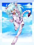 2013 anthro blue_hair breasts claws cloud collar english_text feline female fur fuurin_rei g0madang0 hair japanese_text looking_at_viewer mammal nude open_mouth sky solo text tiger white_fur white_skin white_tiger yellow_eyes  Rating: Questionable Score: 7 User: Granberia Date: June 13, 2015""
