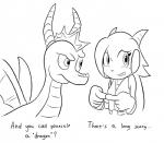 anthro dialogue duo female feral freedom_planet goshaag male sash_lilac sketch spyro spyro_the_dragon video_games  Rating: Safe Score: 2 User: slyroon Date: October 10, 2015