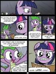 2014 absurd_res angry annoyed book comic dialogue dragon duo english_text equine female friendship_is_magic fur hair hi_res horn male mammal multicolored_hair my_little_pony open_mouth princess purple_eyes purple_fur purple_hair reading redapropos royalty smile spike_(mlp) teeth text twilight_sparkle_(mlp) winged_unicorn wings   Rating: Safe  Score: 8  User: EurynomeEclipseVII  Date: May 07, 2014
