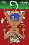 aisha_clanclan animal_humanoid bed bell_collar blue_hair breasts cat cat_humanoid clitoral_hood collar crossover cunnilingus dark_skin darkstalkers duo erect_nipples eyes_closed felicia_(darkstalkers) feline female female/female hair hand_on_thigh humanoid licking lying mammal nipples on_back one_eye_closed oral outlaw_star pussy sex teeth thebigmansini tongue tongue_out vaginal video_games white_hair wink  Rating: Explicit Score: 4 User: KuramaFox Date: August 16, 2015