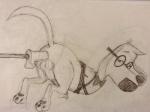 anthro ass_up backsack balls bdsm bondage bound eyewear gag glasses half-closed_eyes looking_at_viewer male mr._peabody mr._peabody_and_sherman penis rjdog115 solo traditional_media_(artwork)   Rating: Explicit  Score: 3  User: rjdog115  Date: May 31, 2014