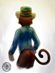 animal_crossing bitfly bottomless butt clothed clothing digital_media_(artwork) half-dressed hat male mammal monkey nintendo porter_(animal_crossing) primate shirt solo video_games  Rating: Questionable Score: 1 User: FiestaDeGuerra Date: November 25, 2015