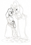 4_fingers age_difference anthro asgore_dreemurr asriel_dreemurr barefoot beard boss_monster breasts cape caprine casynuf clothing crown dress embrace eyebrows eyes_closed facial_hair fangs father father_and_son female flower goat group hand_on_head horn hug king looking_down m2015 male mammal monster mother mother_and_son parent plant royalty simple_background size_difference sketch smile son toriel undertale video_games white_background  Rating: Safe Score: 5 User: sdrawkcaB Date: November 27, 2015