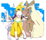 anthro bandai bikini canine chi3 clothed clothing cloud cub cup digimon female fox group japanese_text lagomorph lopunny male mammal musical_note nintendo pokémon pokémorph rabbit renamon shorts skimpy standing straw swimsuit text tight_clothing translated video_games young   Rating: Safe  Score: 25  User: queue  Date: September 01, 2011