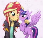 2015 blonde_hair blue_eyes blush clothing duo equestria_girls equine female friendship_is_magic hair horn human mammal multicolored_hair my_little_pony one_eye_closed purple_eyes purple_hair red_hair sunset_shimmer_(eg) ta-na twilight_sparkle_(mlp) two_tone_hair winged_unicorn wings  Rating: Safe Score: 6 User: 2DUK Date: June 09, 2015""