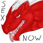 balasar_(character) dragon drooling english_text kallus low_res male reaction_image red_eyes saliva scalie solo teeth text tongue tongue_out western_dragon