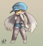 anthro black_eyes blush butt cat clothing cutoffs denim_shorts feline hat klonoa klonoa_(series) male mammal nipples shaolin_bones shorts simple_background solo standing tight_clothing yellow_sclera  Rating: Questionable Score: 6 User: Shariest Date: May 24, 2015