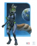 2014 anthro armor breasts canine clothed clothing digitigrade earth eyewear female fox futuristic gun kacey mammal microphone orbit planet ranged_weapon science_fiction solo space star weapon  Rating: Safe Score: 29 User: Wadxxx Date: June 07, 2014