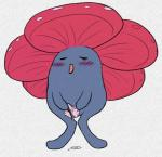 blush female flora_fauna nintendo one_eye_closed pencil_(artwork) plant pokémon pokémon_(species) pussy pussy_juice python13rp simple_background solo traditional_media_(artwork) unusual_pussy video_games vileplume waddling_head white_background wink yaroul