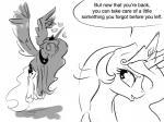 2015 <3 duo english_text equine female feral friendship_is_magic horn mammal my_little_pony princess_celestia_(mlp) princess_luna_(mlp) silfoe text winged_unicorn wings  Rating: Safe Score: 7 User: Robinebra Date: July 30, 2015