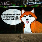 canine cocaine dog drugs english_text fur humor husky looking_at_viewer mammal multicolored_fur orange_fur puppy_eyes real red_fur solo speech_bubble text the_truth tongue two_tone_fur unknown_artist wall white_fur  Rating: Safe Score: 13 User: Husqi Date: January 26, 2016