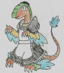 anthro archeops clothing maid_uniform nintendo pokémon simple_background solo uniform unknown_artist video_gamesRating: SafeScore: 1User: NujiDate: August 04, 2016