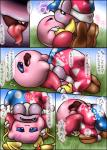 ambiguous_gender blue_eyes blush boots box_xod comic cute dialogue duo eyes_closed gloves happy hat japanese_text kirby kirby_(series) kissing marx nintendo open_mouth oral smile text tongue tongue_out translation_request video_games wings   Rating: Explicit  Score: 2  User: nightwolf000  Date: February 13, 2015
