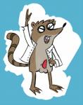 balls cartoon_network clothing eyes_closed happy jacket male mammal milkshakes_(artist) open_mouth penis raccoon regular_show rigby_(regular_show) simple_background solo tongue tongue_out  Rating: Explicit Score: 1 User: SwiperTheFox Date: October 01, 2015