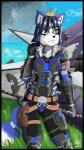 2015 ace_arcana anthro arwing blue_fur blue_hair body_armor breasts canine cheek_tuft clothed clothing cloud fox front_view fur green_eyes gun hair krystal mammal moon nintendo outside planet ranged_weapon shy solo staff standing star_fox thick_thighs tight_clothing tuft video_games weapon white_belly white_fur  Rating: Safe Score: 3 User: PineappleMan Date: July 29, 2015