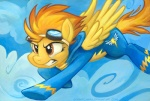2013 brown_eyes cloud cloudscape equine eyewear female feral flying friendship_is_magic goggles hair kenket mammal my_little_pony outside pegasus skinsuit sky solo sophiecabra spitfire_(mlp) wings wonderbolts_(mlp)  Rating: Safe Score: 3 User: 2DUK Date: March 10, 2013