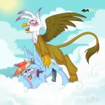 ahegao anal anal_penetration animal_genitalia avian beak blue_fur blue_penis blush breath brown_fur brown_penis cloud cum cum_in_ass cum_inside cum_on_thighs cutie_mark dickgirl dickgirl/dickgirl drooling duo equine erection feathers feral friendship_is_magic fur gilda_(mlp) gryphon hair half-closed_eyes hoof34 horse horsecock intersex intersex/intersex mammal multicolored_hair my_little_pony open_mouth outside penetration penis pony rainbow_dash_(mlp) rainbow_hair saliva sweat teeth tongue tongue_out vein veiny_penis white_hair wings   Rating: Explicit  Score: 10  User: EmoCat  Date: May 11, 2015