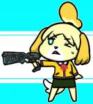 animal_crossing anthro canine female gun holding holding_weapon isabelle_(animal_crossing) mammal nintendo pistol psycho_pass ranged_weapon unknown_artist video_games weapon   Rating: Safe  Score: 7  User: Untamed  Date: December 11, 2013