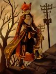 anthro canine digital_media_(artwork) eyewear falvie fox full-length_portrait glasses glowing looking_away male mammal outside sky smile solo standing step_pose sword_art_online tree warm_colors  Rating: Safe Score: 20 User: slyroon Date: July 01, 2015