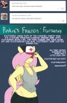 2015 anthro breasts cleavage clothed clothing english_text equine female fluttershy_(mlp) friendship_is_magic mammal my_little_pony pegasus smile solo somescrub text wings  Rating: Safe Score: 5 User: Robinebra Date: August 01, 2015
