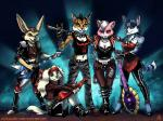 \m/ ala1n anthro clothed clothing concert fara_phoenix fay_spaniel front group guitar katt_monroe krystal miyu_lynx music musician naughty_face sitting stage standing star_fox video_games   Rating: Safe  Score: 6  User: NekoBot  Date: February 25, 2014
