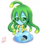 blush butter-t chibi duo female goo green_eyes green_hair hair human kimihito_kurusu male mammal monster monster_girl monster_musume not_furry nude simple_background suu_(monster_musume) tentacle_hair tentacles  Rating: Questionable Score: 5 User: Pasiphaë Date: January 05, 2016