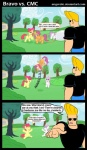 2012 angerelic apple_bloom_(mlp) blonde_hair clothing comic cub cutie_mark_crusaders_(mlp) dialogue english_text equine eyewear female feral friendship_is_magic group hair horn horse human jeans johnny_bravo johnny_bravo_(series) male mammal my_little_pony pegasus pony scootaloo_(mlp) shirt sunglasses sweetie_belle_(mlp) text unicorn wings young  Rating: Safe Score: 12 User: Falord Date: September 21, 2012