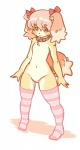 black_eyes brown_fur canine cub dog female flat_chested fur hair kemono legwear loli mammal nude pink_hair solo stockings young きん   Rating: Questionable  Score: 8  User: KemonoLover96  Date: May 11, 2015