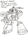 ambiguous_gender anthro black_and_white duo english_text female feretta feretta_(character) looking_at_viewer machine mammal monochrome red_panda robot simple_background text tumblr white_background  Rating: Safe Score: 3 User: NotMeNotYou Date: April 13, 2014