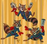 2017 anthro clothed clothing fur guardians_of_the_galaxy gun male mammal marvel raccoon ranged_weapon rocket_raccoon sibsy weaponRating: SafeScore: 3User: Rysaerio-MisoeryDate: May 29, 2017