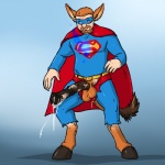 aggrobadger animal_genitalia balls clothed clothing cum digital_media_(artwork) donkey dripping equine horsecock human male mammal penis solo spandex superhero torn_clothing transformation  Rating: Explicit Score: -3 User: confused Date: March 06, 2013