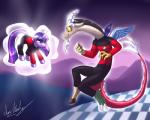 2014 antlers badge clothing discord_(mlp) draconequus duo equine fangs female friendship_is_magic hair horn male mammal marauder6272 my_little_pony purple_eyes purple_hair q red_eyes star_trek twilight_sparkle_(mlp) uniform   Rating: Safe  Score: 5  User: 2DUK  Date: January 13, 2015